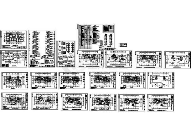 某地上十二层住宅楼电气施工图(二级负荷,三级负荷)-图一