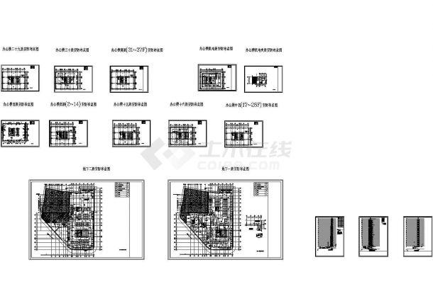 某地区高层办公楼安防布置电气设计图-图一