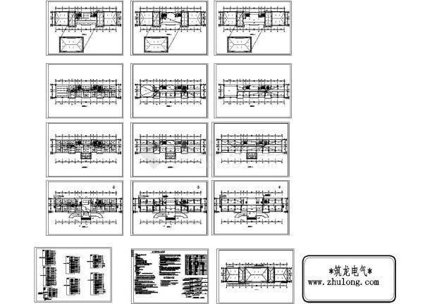 某4057㎡厂区五层办公楼电气施工图纸(含设计说明)-图一