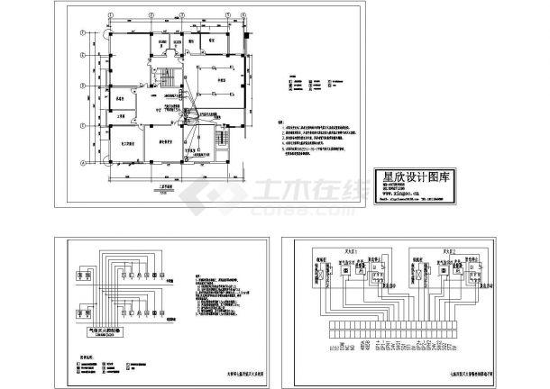某变电站火灾报警系统设计cad全套施工图(标注详细)-图一