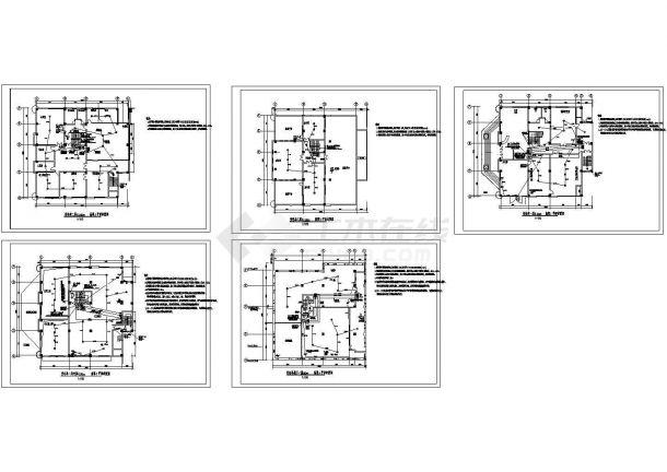 某变电站火灾报警系统设计cad全套施工图(标注详细)-图二