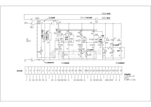 饮水机电气控制原理图-图二