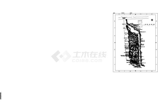 某荷花池影园植物配置设计CAD图-图一
