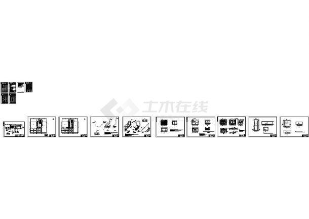 [内蒙古]某高校800吨每天中水回用工程施工图cad(含设计说明及材料表)-图一