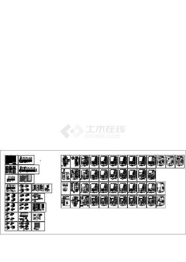 某医院综合高层大楼(9896㎡)强弱电设计cad全套电气施工图67张(含设计说明)-图一