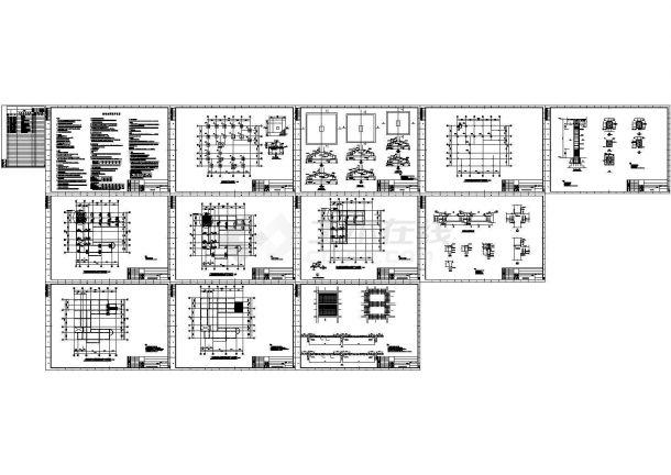 [广州]地上三层框架结构办公楼改造加固结构施工图(含框柱加固大样图)-图一