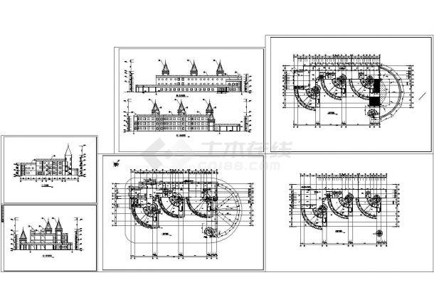 3层幼儿园建筑施工图(6张)-图一