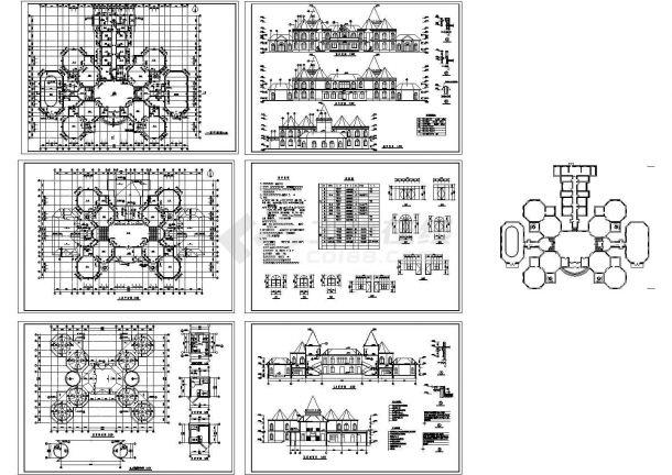 长57米宽47.4米2层2053平米欧式幼儿园建筑施工图(设计说明)-图一