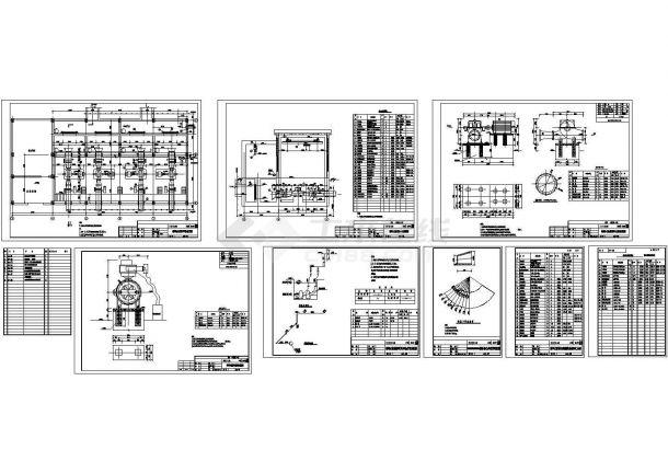 循环水泵房cad设计图-图二