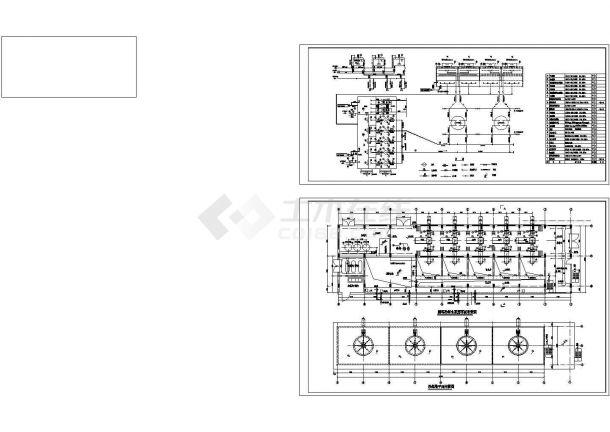 某电厂循环水泵房详细cad图纸-图二