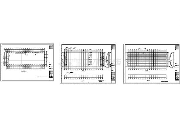 新疆某农贸市场钢结构设计图-图一