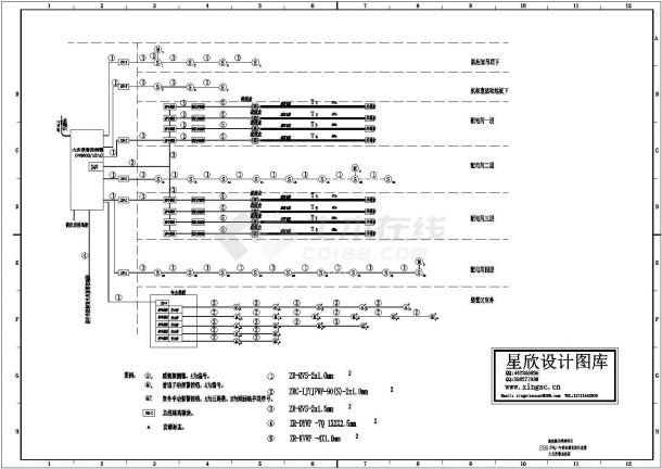 某280万吨/年重油催化裂化炼油装置火灾报警系统设计cad施工图(标注详细)-图一