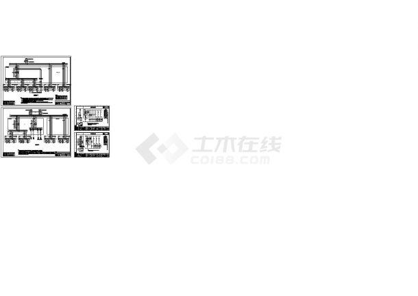 智能照明系统控制原理设计cad图,共四张-图一