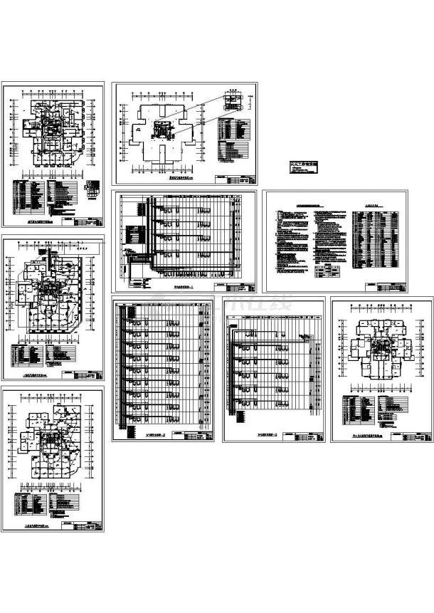 某18层剪力墙结构高层住宅楼(17136㎡)消防设计cad全套施工图纸(含设计说明)-图一