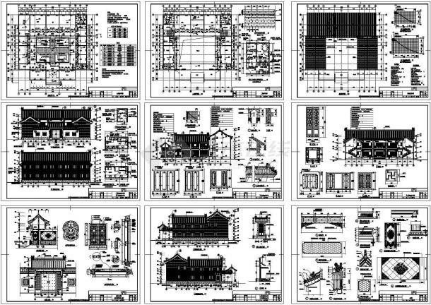 某地两层砖混结构仿古住宅建筑设计施工cad图纸设计-图一