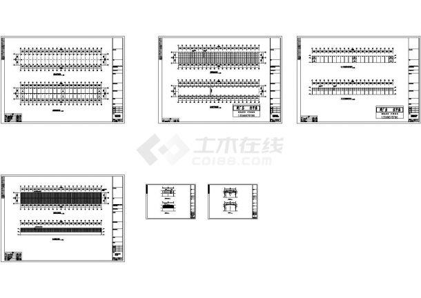 常州某公司投资石材城钢结构厂房设计施工cad图,共六张-图一