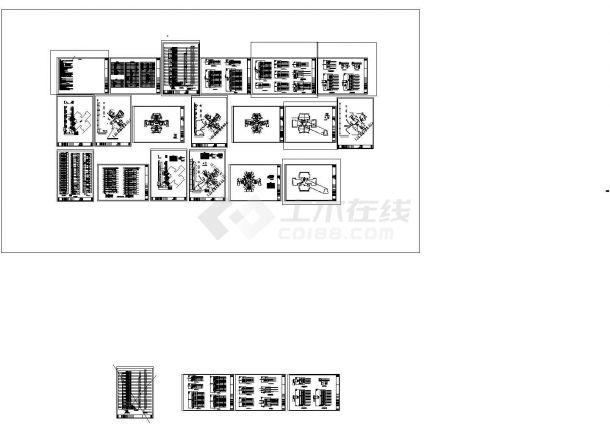 某地下1层地上25层框架剪力墙结构住宅楼(建筑面积16007.72平方米)强弱电设计cad全套电气施工图(含设计说明,含消防设计)-图二