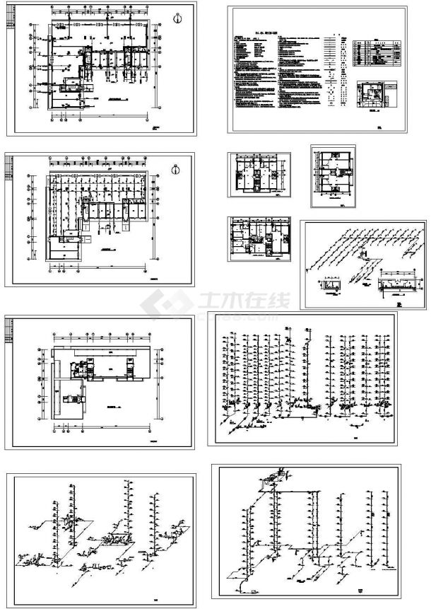 某住宅小区给排水全套施工图纸设计,含给水、排水、消防及施工总说明-图一