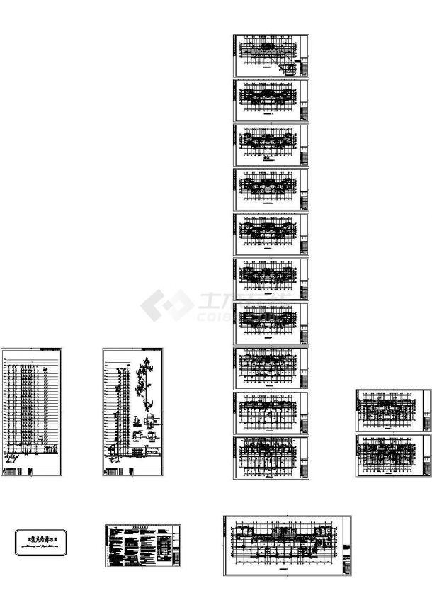 高层住宅给排水全套施工图纸设计,含给排水设计说明-图一