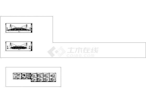 体育场建筑结构水电暖全套施工cad图纸,含弱电设计说明-图二