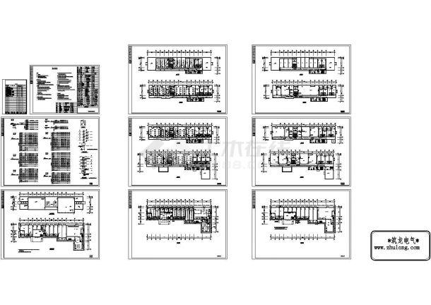 某3080㎡地上五层办公楼电气施工cad图纸(三级负荷)-图二
