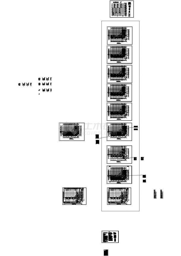 [河北]高层商住楼采暖及通风排烟系统设计,含暖通设计施工说明-图一