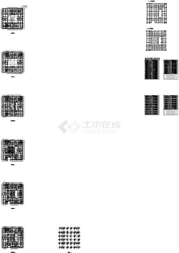 五层框架办公楼结构CAD施工图-图二