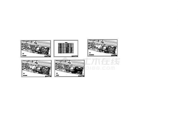 某城市湘江风光带环境景观工程设计cad总平面施工图(甲级院设计)-图二