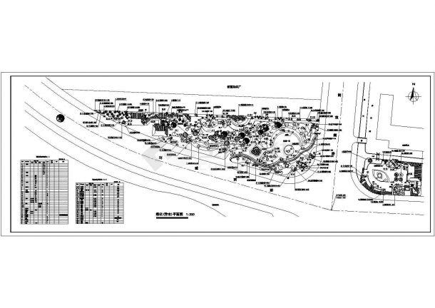 某公园绿化(乔木)规划设计cad总平面施工图(甲级院设计)-图二