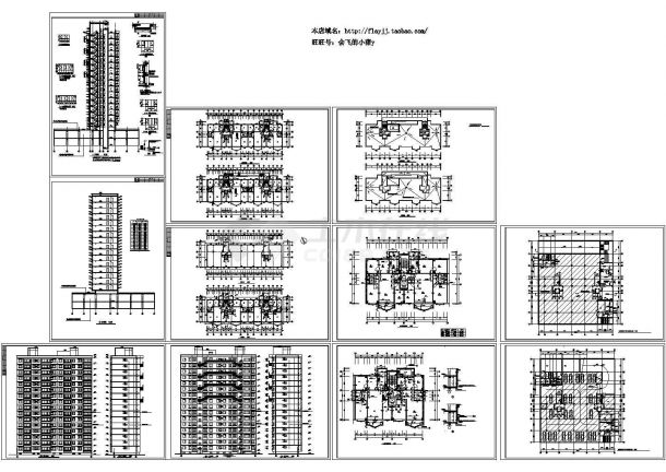 某16层住宅楼设计图 cad图纸-图一