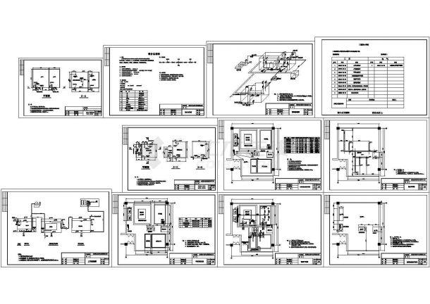 市水利局办公楼中水回用处理工程图纸-图一