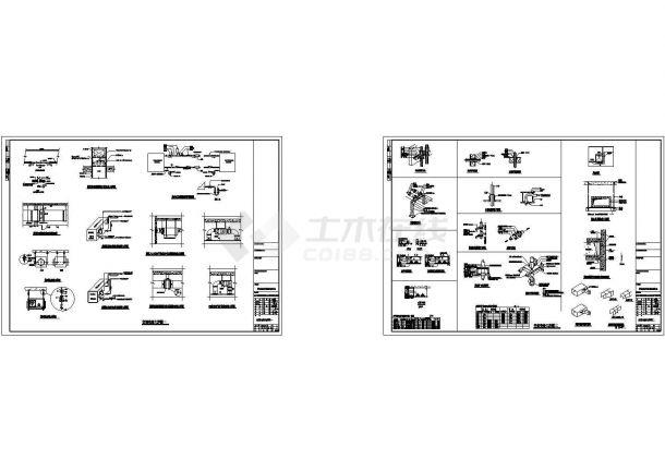 空调安装大样CAD设计图-图一