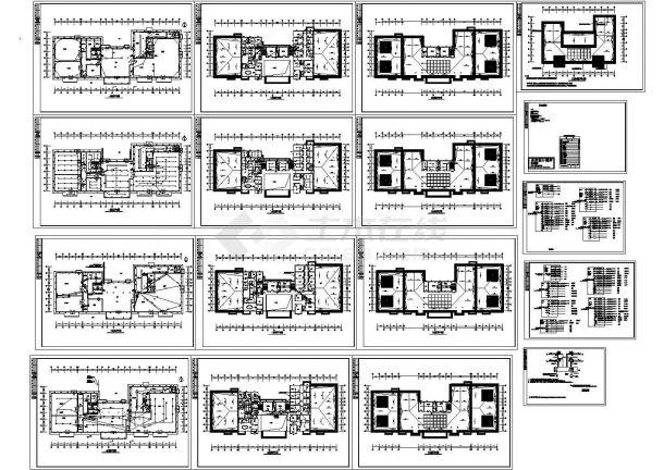 风景区会议餐厅电气消防报警CAD平面图-图一