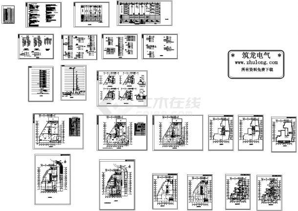 某十二层商住楼电气施工图纸 ,含电气设计说明-图一