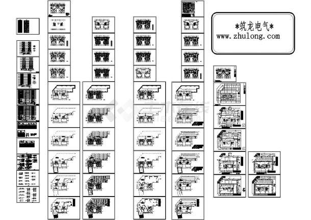 某高层商住楼全套电气设计图CAD-图二