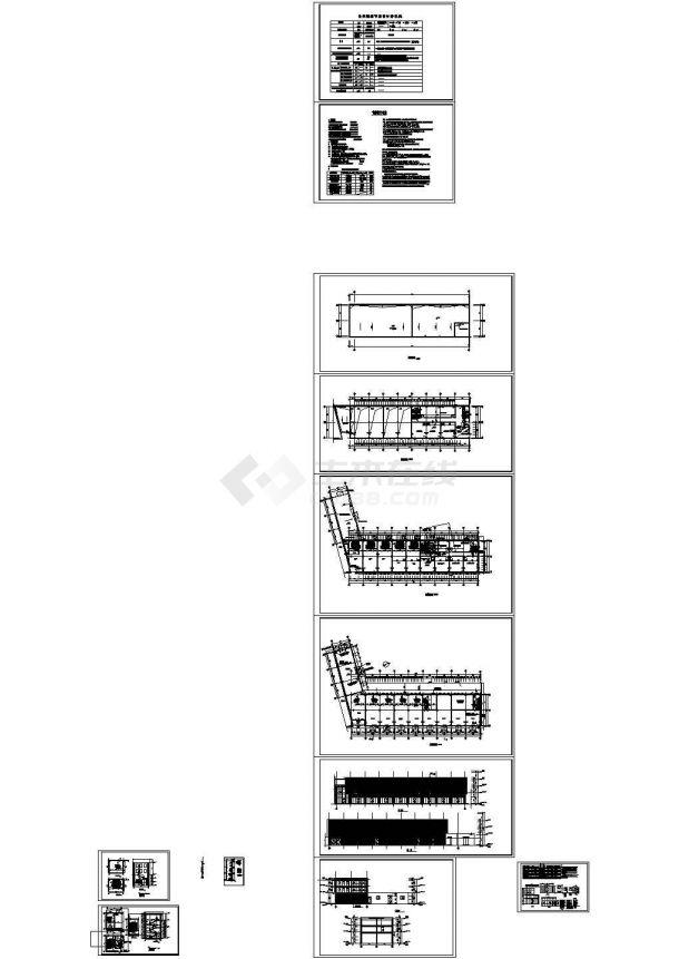 某地区住宅三层商业建筑施工图,12张图纸-图一