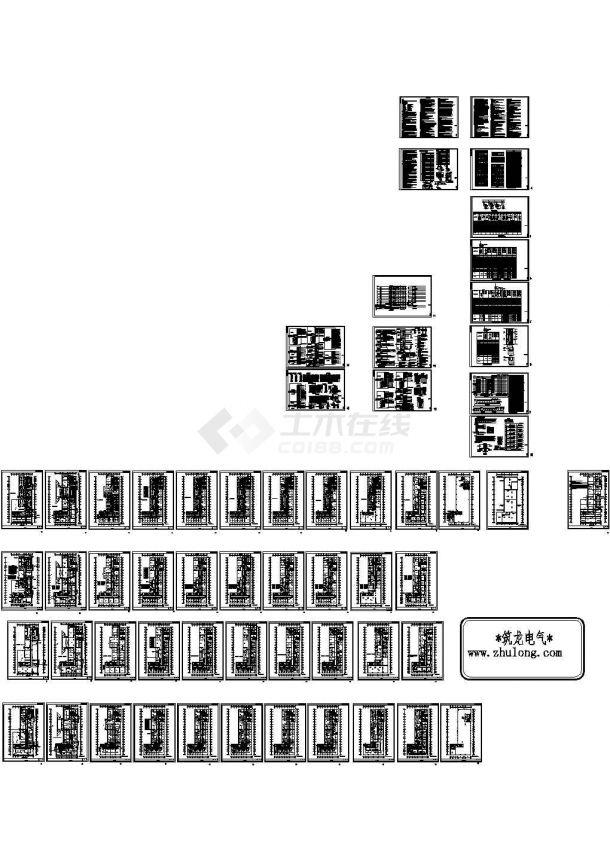 某十二层综合楼医院全套电气施工图纸设计,28张图纸-图一