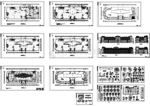 某四层大型商场建筑施工图,13张图纸。-图一