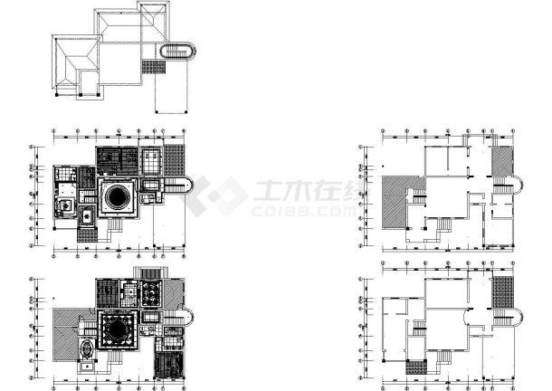 某二层欧式别墅装修施工图+效果图-图一
