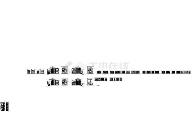 某二层欧式别墅装修施工图+效果图-图二