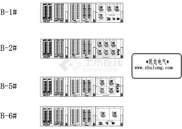 北京某住宅楼强电与弱电详细CAD系统图-图一