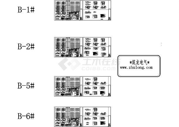 北京某住宅楼强电与弱电详细CAD系统图-图二