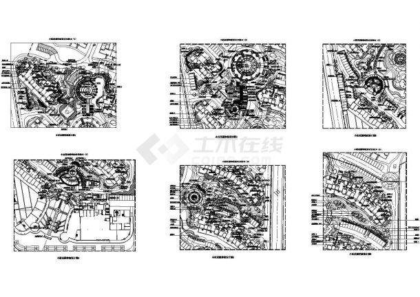 某精选15套小区景观绿化规划设计CAD图-图一