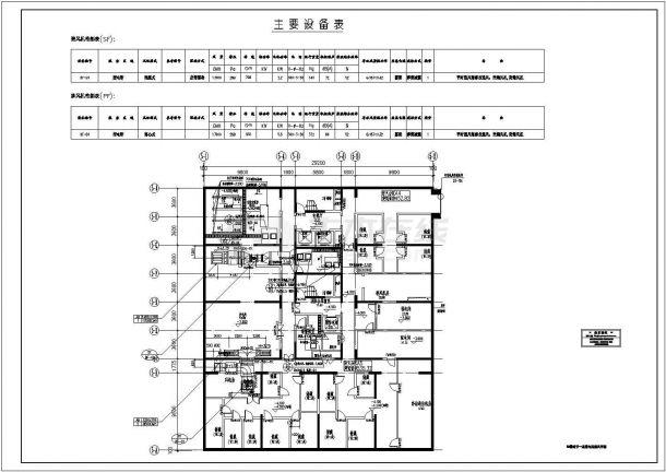 [上海]多栋高层商业综合楼空调通风防排烟施工设计cad图-图一