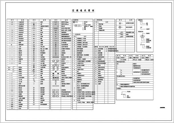 [上海]多栋高层商业综合楼空调通风防排烟施工设计cad图-图二