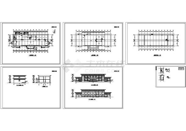 餐厅CAD建筑设计方案图-图一