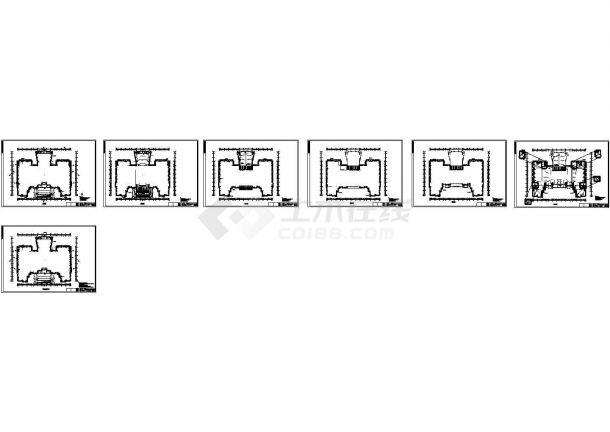 [大连]某大学图书馆石岛红石材干挂建筑施工图-图二
