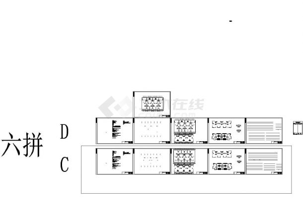 [湖南]某联排别墅给排水设计cad图纸,共四张-图一