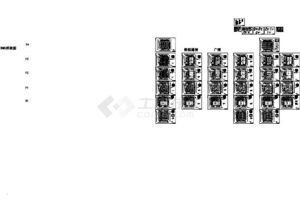 北京大型商业购物中心强弱电施工图,含总平面,电气弱电说明-图二