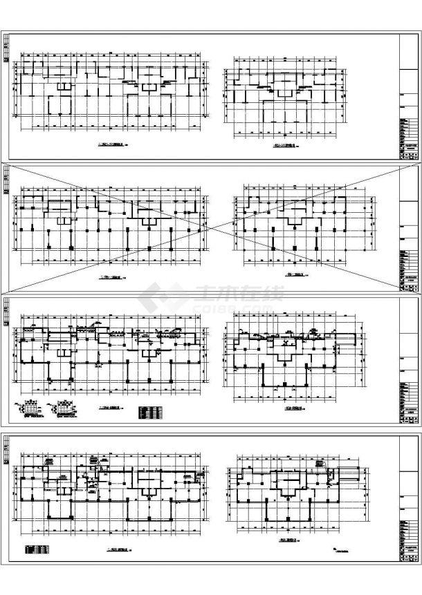 33层框支剪力墙住宅结构设计施工图-图二
